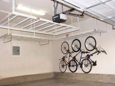 http://tuffrax.com   Ways to organize your garage.