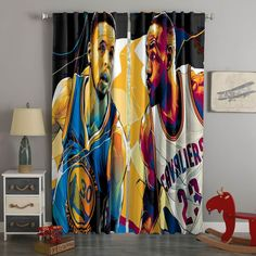 3D Printed Stephen Curry Vs Lebron James Style Custom Living Room Curt – Westbedding