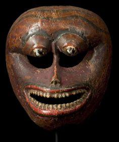 Monkey Mask  Sri Lanka  18th - 19th century  Polychromed wood