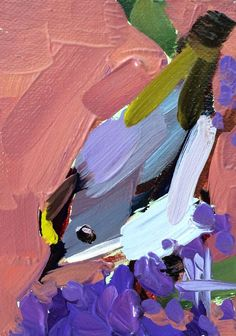 Goldcrest Kinglet no. 26 original bird oil painting Angela Moulton ACEO Art #Impressionism
