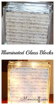 Illuminated glass block - brighten dark corners! - Momcrieff