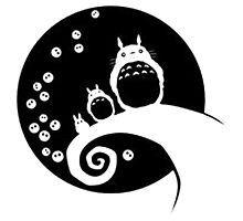 'Christmas Totoro Black' iPhone Case by gaidamerry Canvas Prints, Art Prints, Totoro, Photographic Prints, Symbols, Letters, Disney Characters, Christmas, Metal