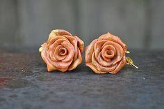 HandmadeFamily / Náušnice ružičky