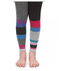 24df2e91b3a Be right on trend in these Jefferies Socks color block footless tights  perfect for fall and spring!