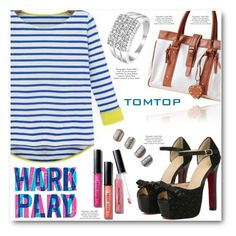 """""""TOMTOP"""" by angelstar92 ❤ liked on Polyvore featuring Americanflat, Bobbi Brown Cosmetics, outfit, fab, tomtop and tomtopstyle"""