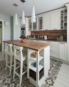 48 suprising small kitchen design ideas and decor 15 - Wohnen - Kitchen Ideas Cozy Kitchen, Home Decor Kitchen, Kitchen Interior, New Kitchen, Home Kitchens, Kitchen Ideas, 10x10 Kitchen, Small Kitchens, Interior Modern