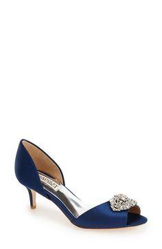 Possible Wedding Shoe {Badgley Mischka 'Petrina' Peep Toe d'Orsay Pump} Available in White, too