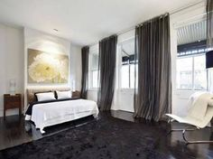 Image Result For White Walls Dark Curtains And Floor