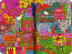 Write one word over and over. From Wreck This Journal