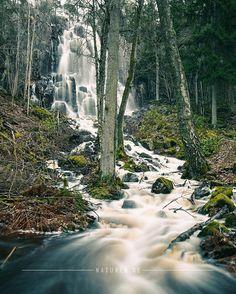 Waterfall near Vargön & Trollhättan. West coast of Sweden