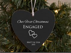 Our First Christmas Engaged Ornament Personalized Ornament for Bride to Be Newly…