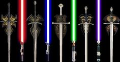 Lord of the Rings United Cutlery swords and Star Wars Master Replicas lightsabers - love this one!