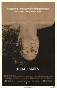 """MP374. """"Altered States"""" Movie Poster by Steve Frankfurt (Ken Russell 1980) / #Movieposter"""