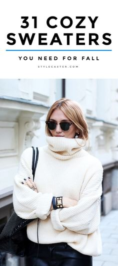 Fall Shopping: Sweaters | Oversized? Check. Cozy? Check. Stylish? Check. Click through to shop the best fall 2015 sweaters at every price.