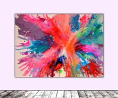 Buy Fly on the Windscreen -  Abstract Painting, Modern Fauve Neogestural…