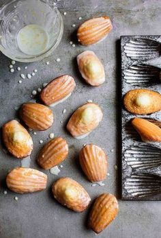 Lemon Madeleines Recipe (These lemon madeleines with just the perfect lilt of citrus are the best teacakes we've ever tasted. One taste and you'll understand exactly what we mean. Best Cookie Recipe Ever, Best Cookie Recipes, Tea Cakes, Yummy Eats, Yummy Food, Yummy Yummy, Lemon Recipes, Sweet Recipes, Slow Cooker Desserts