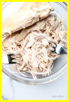 Easy Shredded Chicken Recipes For Dinner. Meals In Minutes: Easy Dinner Recipes Skip To My Lou. Shredded Chicken Sandwiches, Chicken Sandwich Recipes, Easy Chicken Recipes, Simple Recipes, Easy Bbq Chicken, Easy Shredded Chicken, Spicy Sloppy Joe Recipe, Air Fryer Recipes Chicken Breast, Instant Pot Pork Loin Recipe