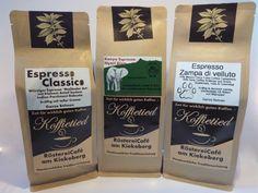 Espresso Probierset 3 x 250g Espresso, Arabica, Fulda, Vintage Italian, Kaffee, Espresso Coffee, Espresso Drinks