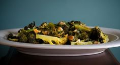 Roasted Broccoli with Almonds, Roasted Garlic and Mustard Vinaigrette , a recipe on Food52