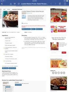 Loaded Baked Potato Salad Recipe!