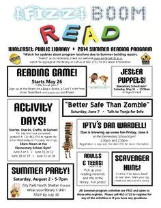 The 2014 Winterset Public Library Summer Reading Program activities flyer!
