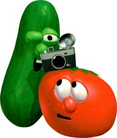 VeggieTales - Bob and Larry with a Camera Vector by on DeviantArt Veggie Tales Characters, Ballora Fnaf, America's Funniest Home Videos, Randy Newman, America Funny, Sing Along Songs, Wimpy Kid