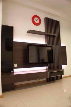 90 Wall Mount Tv Ideas for Small Living Room Tv Wall Mount Style Ideas to Bine with Your attractive Living Room Tv Unit Designs, Wall Unit Designs, Tv Cabinet Design, Tv Wall Design, Tv Feature Wall, Lcd Panel Design, Tv Wanddekor, Tv Wall Cabinets, Tv Unit Furniture