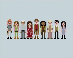 The cross stitch samplers of Wee Little Stitches blend pop pixel art with classic crafting, stitching up renditions of everyone from the Teenage Mutant Ninja Turtles to all 11 Doctors. Cross Stitching, Cross Stitch Embroidery, Embroidery Patterns, Hand Embroidery, Cross Stitch Patterns, Bead Patterns, Pixel Art, Geek Crafts, Firefly Serenity