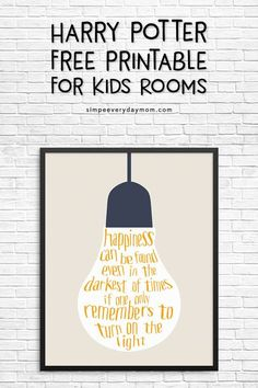 Free printable harry potter quote art happiness can be found even in the da Baby Harry Potter, Harry Potter Wall Art, Harry Potter Nursery, Harry Potter Classroom, Harry Potter Decor, Harry Potter Birthday, Harry Potter Quotes, Harry Potter Bathroom Ideas, Harry Potter Font Free