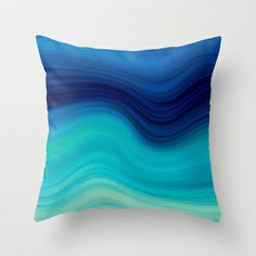 SEA BEAUTY 2 Throw Pillow by catspaws - $20.00 aqua teal turquoise