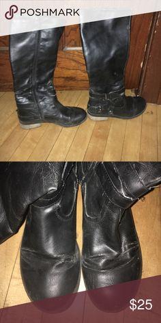 Black zip up combat boots Cute zip up combat boots my mom no longer wears Shoes Combat & Moto Boots