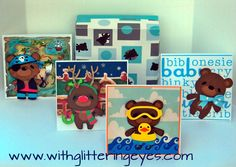 Boxed teddy bear cards made from Teddy Bear Parade.  Blog post includes cut sizes and how-to for bears, cards, and box!