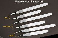 Cheap nylon hair painting brushes, Buy Quality water brush directly from China paint brush Suppliers:         SAKURA Solid Water Color Paint 18/24/30 Colors Sets,Solid Water Color+Needle Pen+Water Brush+Waterco