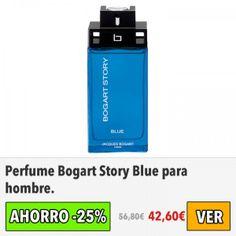 Perfume Bogart Story Blue para hombre. #ofertas #descuentos #dameofertas #perfumes