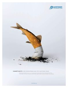 The NGO Surfrider Foundation wants to use this ad to report the pollution . - The NGO Surfrider Foundation wants to use this ad to draw attention to the pollution on the planet - Clever Advertising, Advertising Design, Contextual Advertising, Advertising Campaign, Ads Creative, Creative Posters, Photomontage, Art Environnemental, Ad Of The World