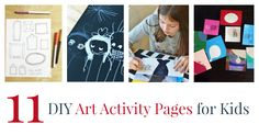 11 DIY Art Activity Pages for Kids