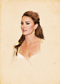 Lovely drawing of Catherine, Duchess of Cambridge