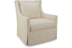 Lee Industries 1011-01 Chair  Adorable swivel chair available in any Lee Industries fabric you choose.