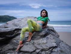 "She loves moonlight and rainstorms and so many other things that have soul.-JmStorm  Model:@ii_kaya_ises Photography:@siosphotography ""High Vibration"" leggings available earthwide at Cooyah.com Enter code: JAMAICA62 for 15% off your entire order at checkout.   #empress #trinidad #rasta #reggae #cooyah #leggings #yoga #kush #herb #dancehall #rocksteady #irie #onelove #fashion #lifestyle (at Las Cuevas Beach Trinidad)"