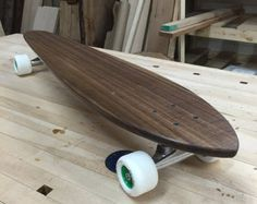 Custom Wood Skateboard - Longboard - Solid Walnut - Made to Order