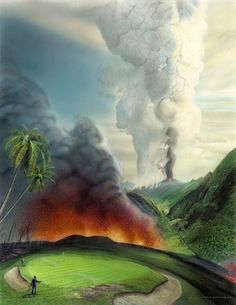 8 Hawaii may be paradise… but are these links a luau Bud Chapman Collection Each giclee has certificate of authenticity. This special limited time edition is available at TPK Golf Fantasy Golf, Golf Painting, Golf Pictures, Golf Green, Masters Golf, Victoria Falls, Northern Lights, Golf Courses, Beautiful Places