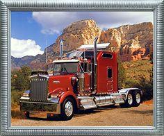 Maroon Kenworth Truck Transportation Wall Decor Silver Fr... https://www.amazon.com/dp/B01NCK6PIE/ref=cm_sw_r_pi_dp_x_WVnqzbEXAQFJK