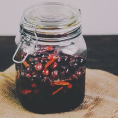 Lacto-Fermented (Cultured) Honey Cranberries — Bare Root Girl