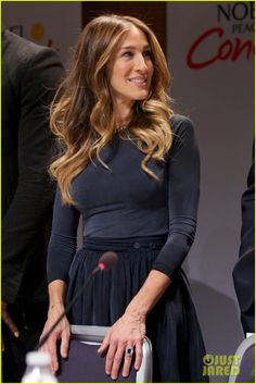 SJP is wearing a FASTERTHANPARIS dress/skirt and Fred Leighton jewelry (dec 2012)