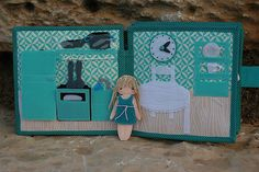 Dollhouse with felt paper doll TomToy quiet book