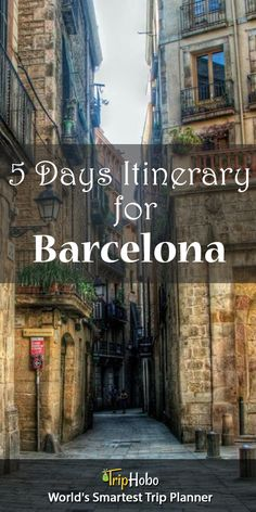 5 days Itinerary For Barcelona By TripHobo