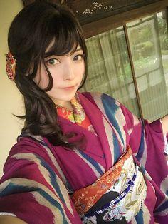 """つくも🦊ろ35b売子 on Twitter: """"andさんマッキーさんとめとさんと撮影日和でした🍧🌻👘 浴衣もよいが夏着物もよいぞ!!… """" Japan Woman, Japan Girl, Yukata, Japanese Beauty, Asian Beauty, Cute Japanese Girl, Portraits, Japanese Outfits, Japanese Kimono"""