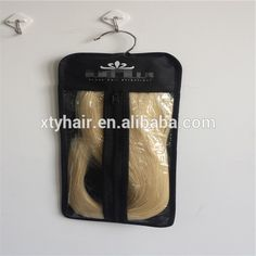 Alibaba express custom put the logo hair extension packaging box hanger in stock
