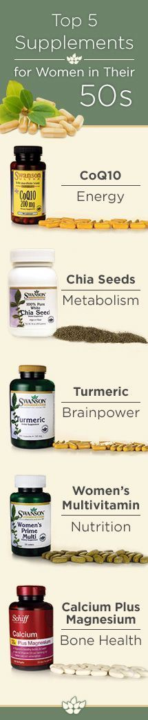 top supplements for women in thier 50's Dr Oz suggest: