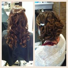 Curls & updo Updos, Curls, Hairstyles, Long Hair Styles, Beauty, Up Dos, Roller Curls, Haircuts, Beleza
